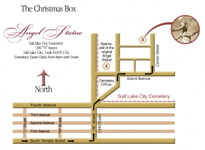 Image for the map to the Salt Lake City Angel Statue